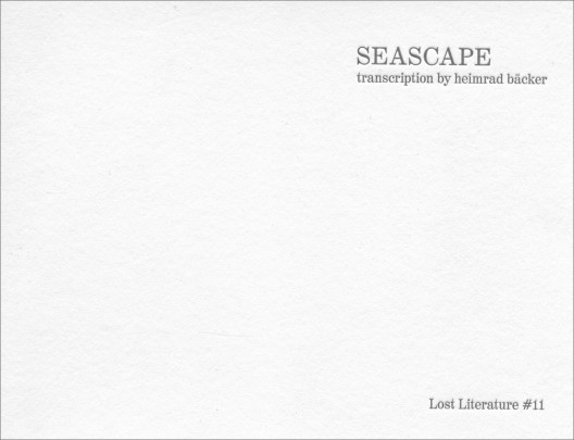 Seascape Cover